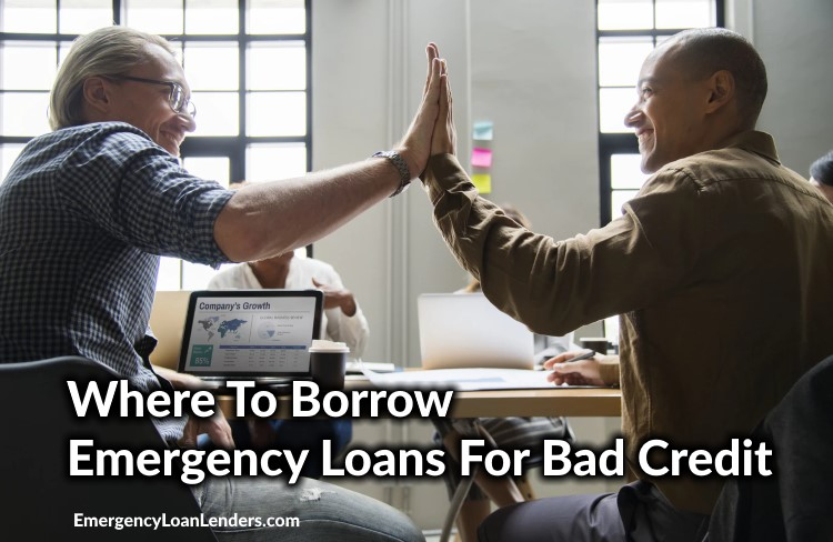 where to borrow emergency loans for bad credit